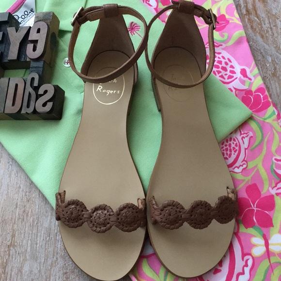 7e93798ecf4f6 Jack Rogers Shoes - Jack Rogers  Daphne  Cognac Leather Sandals